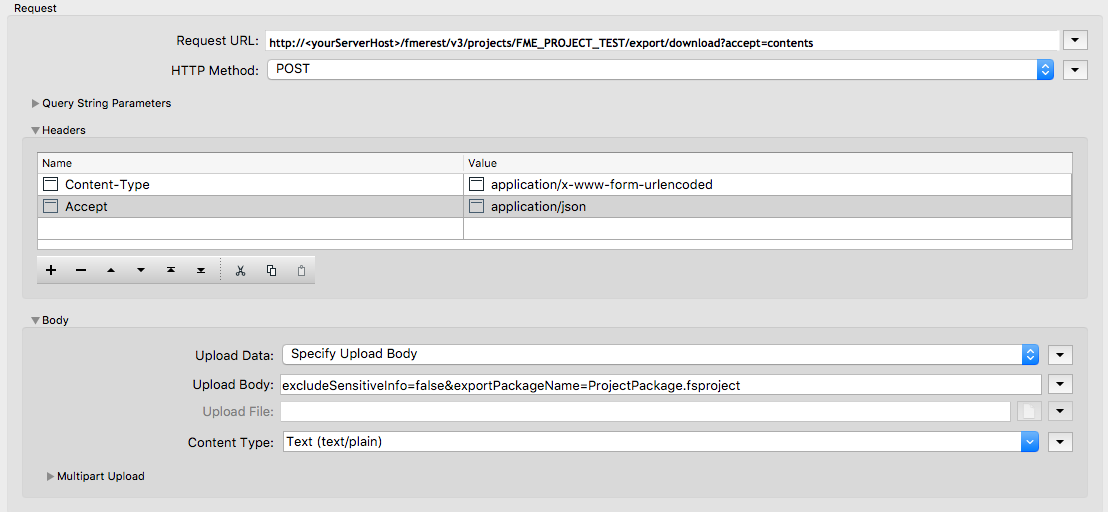 1 2 What components are in a Request? · FME Server REST API